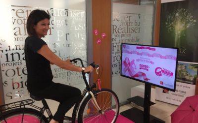 Octobre Rose de la Caisse d'Épargne : 1 km à vélo = 1€ contre le cancer